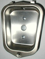 Interior Steel Locker Recessed Handle Cup. Stainless Steel. (Current). #76034