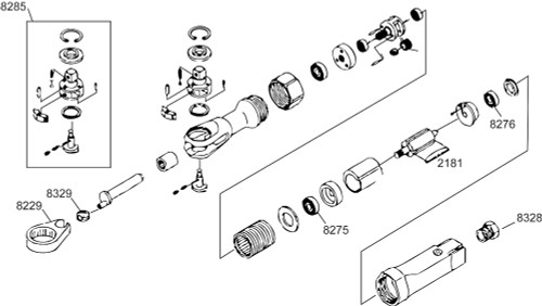 "107-TK1 Ratchet Head Kit 3/8"" equiv.."