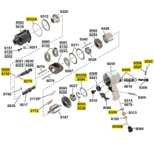 244-TK2 T/U Kit Equivalent w/o bearings.