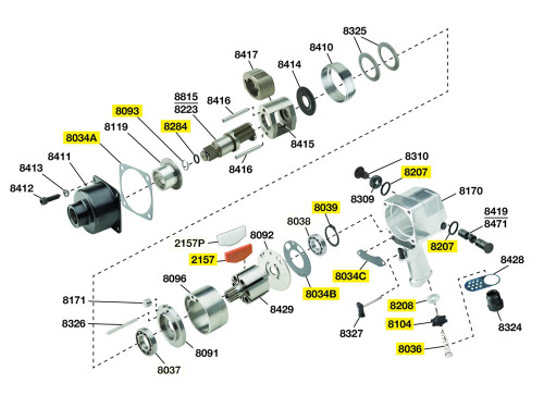 261-TK2 T/U Kit Equivalent w/o Bearings.