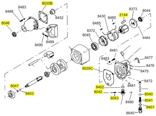 281-TK1 T/U Kit equivalent w/o bearings.