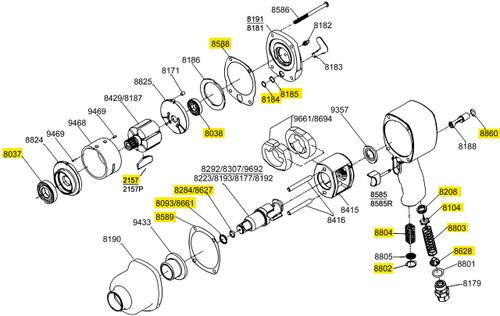 2161-TK2 T/U Kit equivalent.