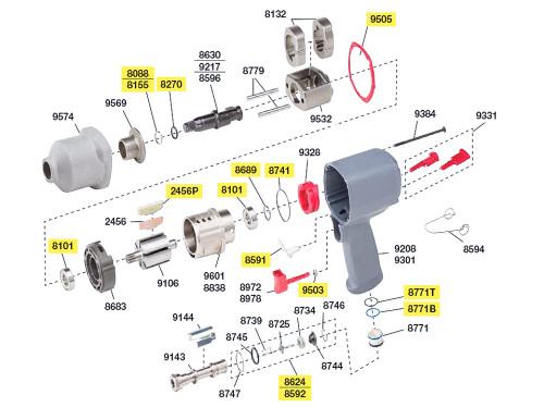 2135-TK2 T/U Kit w/ PLASTIC Vanes