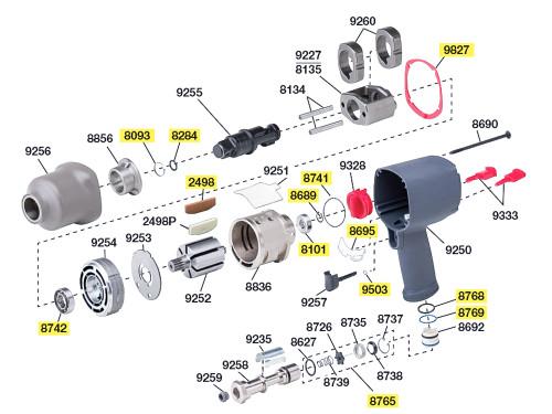 2145-TK2 T/U Kit equivalent