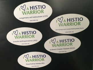 I Heart a Histio Warrior Awareness Magnet