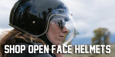 Shop Open Face 3/4 Motorcycle Helmets