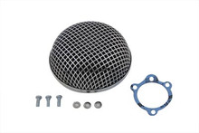 Harley Davidson S&S Type Carburetor Chrome Round Mesh Air Cleaner