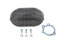 Harley Davidson Bendix-Keihin Type Carburetor Chrome Oval Mesh Air Cleaner