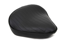 V-Twin - Bates Style Wide Tuck and Roll Solo Seat - Thick