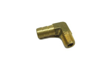 "3/8"" Hose Barb 90 Elbow x 1/8"" NPT - Brass"
