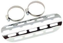 "Bikers Choice - Perforated Chrome Heat Shield - 9"" Length"