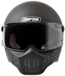 Simpson Helmets - M30 DOT Approved Helmet - Matte Carbon Fiber