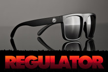 HeatWave Visual - Black Out Regulator Sunglasses - Grey Lurk Lens