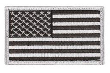 Rothco - U.S. Flag Patch - Black/Silver