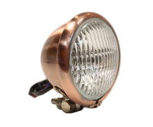"Copper 4.5"" Black Headlight - Clear Lens"