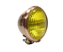 "Copper 4.5"" Black Headlight - Yellow Lens"