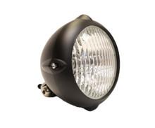 "Finned 4"" Black Headlight - Clear Lens"