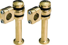 Paughco - Offset Post Risers - Solid Brass