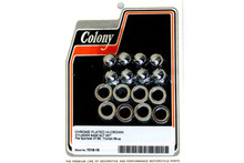 Colony - Cylinder Base Acorn Nut and Washer Set - Chrome fits '57-'84 XL