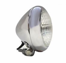 """Bezel 5"""" Chrome Headlight - Clear Lens"""