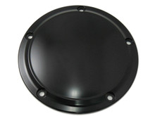 V-Twin - 5-Hole Smooth Derby Cover - Black
