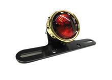 V-Twin - Shooter Tail Light Std Bulb Bobber Style - Brass Anodized