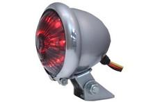 V-Twin - Round LED Chrome Tail Light - Smoked Lens