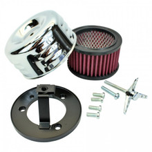 TC Bros Choppers - Chrome Louvered Air Cleaner for S&S Super E & G Carbs