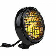 "Slim Caged 5"" Black Headlight - Amber Lens"