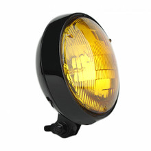 "Slim 5"" Black Headlight - Amber Lens"