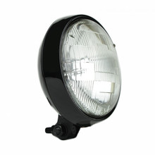 "Slim 5"" Black Headlight - Clear Lens"
