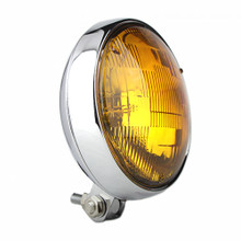 "Slim 5"" Chrome Headlight - Amber Lens"