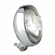 "Slim 5"" Chrome Headlight - Clear Lens"