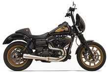 Bassani - Road Rage III Greg Lutzka 2-into-1 Exhaust System Stainless - Fits  '91-'16 FXD (see chart)