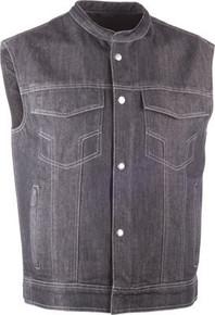 Highway 21 - Iron Sights Denim Vest - Club Collar
