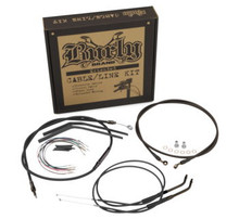 "Burly Brand - 14"" T-Bar Cable/ Brake Line Extension Kit - '07-'11 FXD"