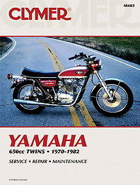 Clymer - Yamaha 650cc Twins XS650 1975 - 1982 - Service Manual