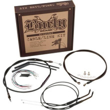 "Burly Brand - 14"" Handlebar Cable/ Brake Line Extension Kit - fits '07-'12 FXD"