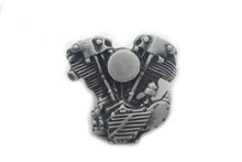 Knucklehead Lapel Pin - Silver Patina
