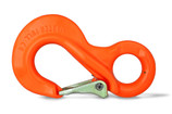 Master Pull Cobra Sling Hook with 35,200 lb breaking strength. Designed for heavy duty industrial applications where strength matters. Bright safety orange color increases visibility in low light situations.
