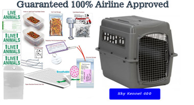 Sky Kennel 400 complete airline travel Package