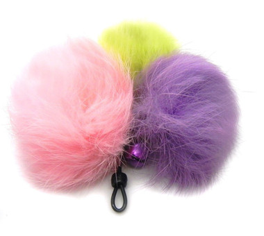 Rabbit Fur Pom Pom Cat teaser wand refill