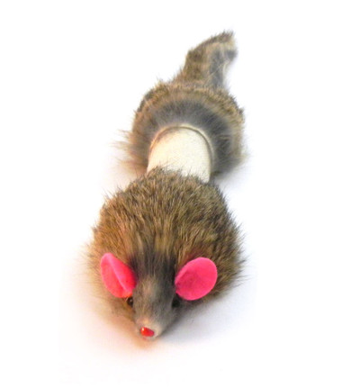 Dat Darn Weasel Rabbit Fur Cat Toy
