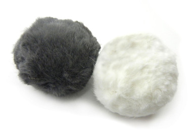 Rabbit Fur Rattle Ball Cat Toy