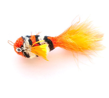Cat Toy Teaser Wand Refill - Orange Clown Fish KatFly®