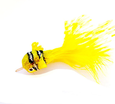 Cat Toy Teaser Wand Refill - Yellow Clown Fish KatFly®
