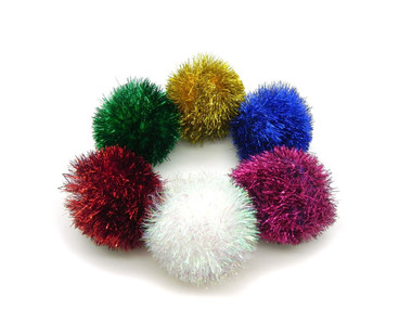 Classic Sparkle Ball Tuff Kitty Puff® Cat Toy
