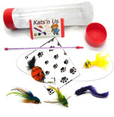 Kat Fly Teaser Clownfish Cat Toy Wand Kit