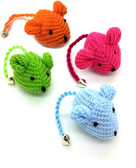Crochet Mouse Cat Toy - 4 Pk