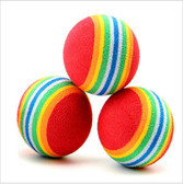 Rainbow Ball Cat Pet Toy - 3 Pak